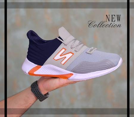 کفش مردانه NewBalance مدل WinSon (طوسی نارنجی)